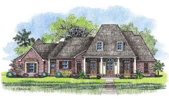 Hattiesburg Country French Home Plans