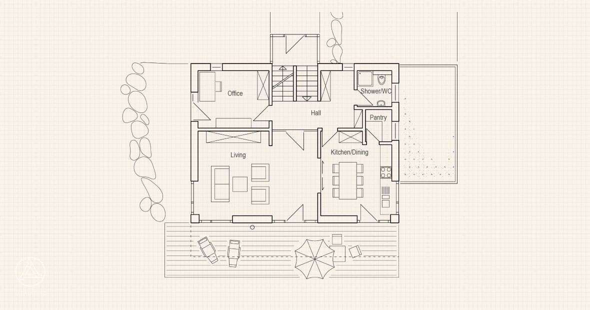 Haus Eco Passive House Kramer Ground Floor Prefabricated