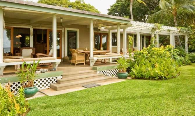 Hawaiian Cottage Style Tropical Porch Hawaii