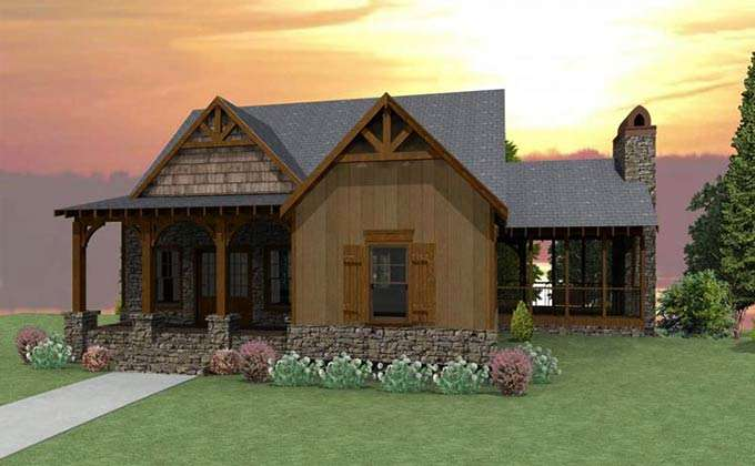 Here Home House Plans Craftsman Cottage Plan Porches