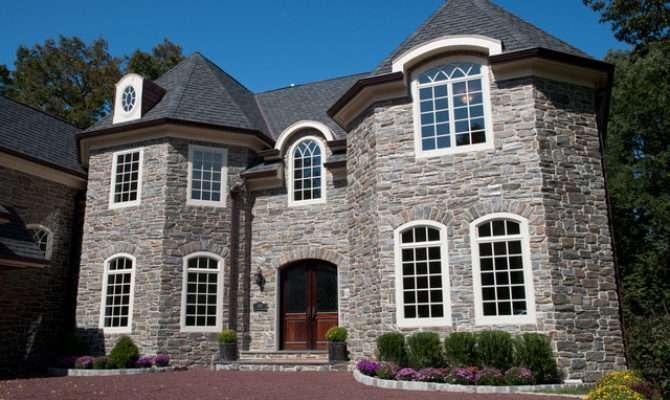 Heritage Mica Thin Stone Veneer Traditional Exterior