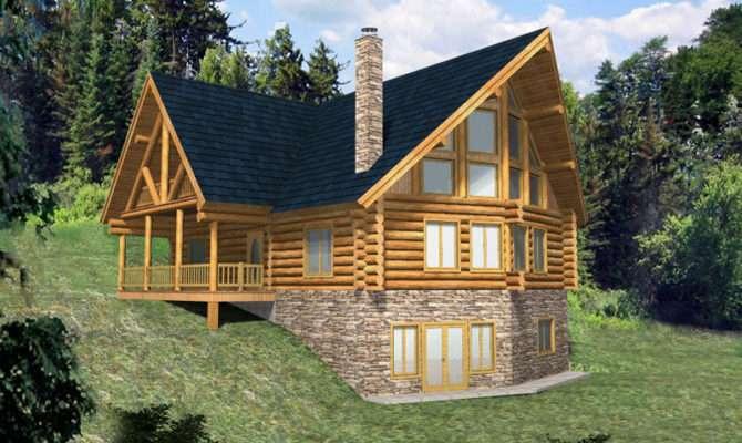 Hickory Creek Frame Log Home Plan House