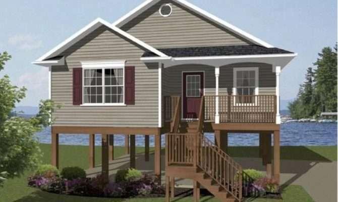High Coastal House Plans Pilings Beach