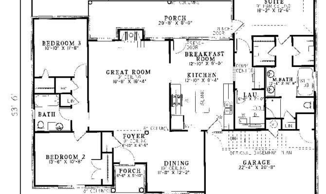 High Home Plans Ranch Traditional