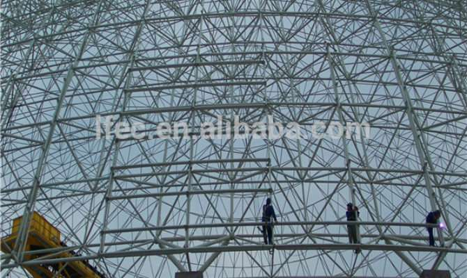High Security Space Frame Prefab Dome House Coal