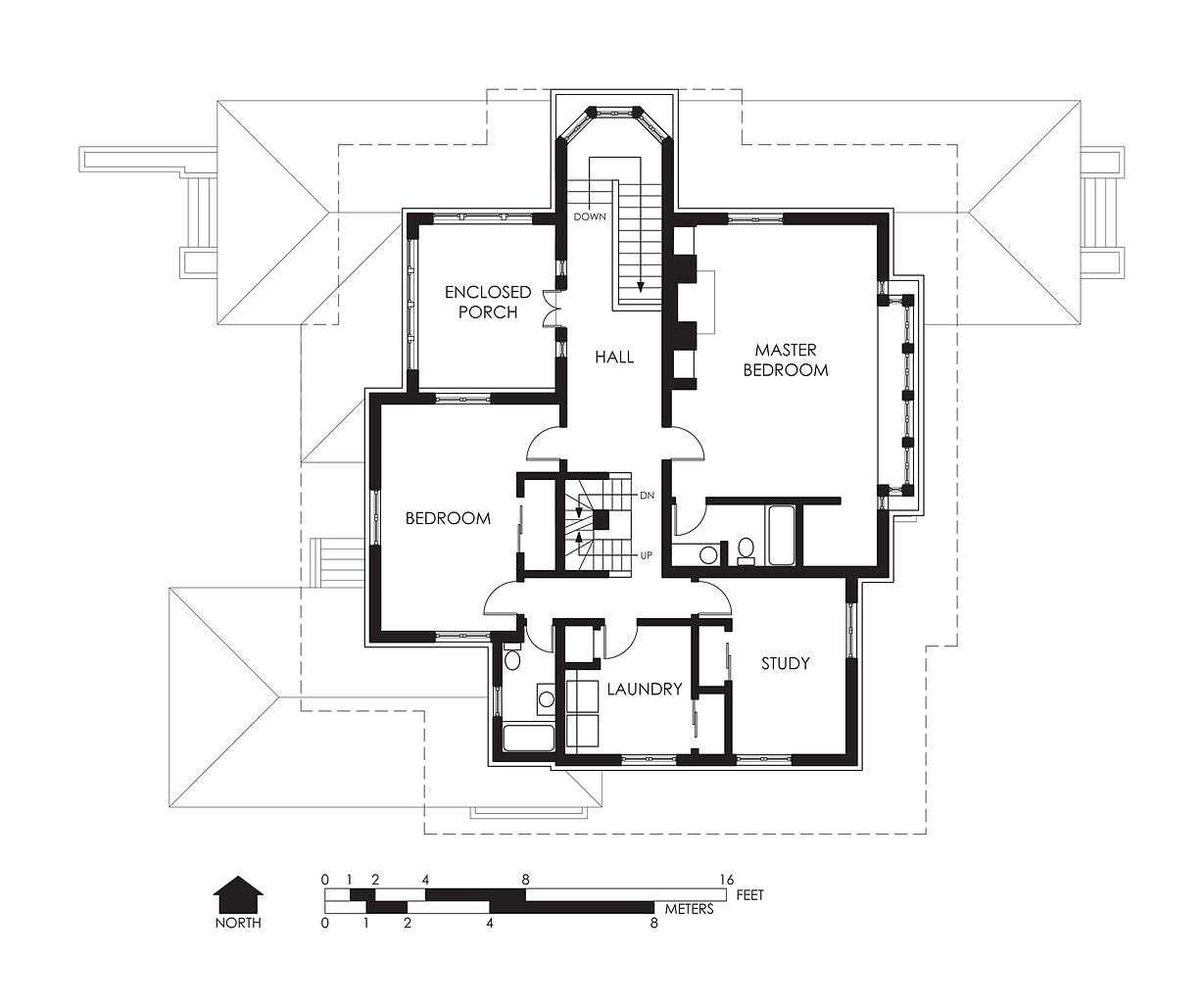 Hills Decaro House Second Floor Plan Wikipedia