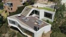 Hillside House Plans Steep Hill Green Living Roof Plan