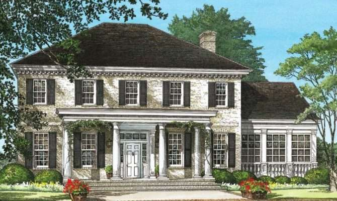 Hip Roof Colonial House Plans Escortsea