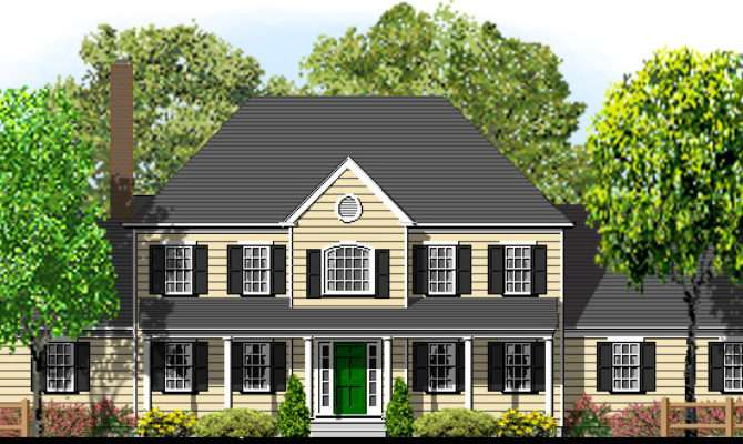 Hip Roof Colonial House Plans Inspiration Building