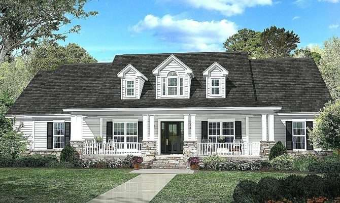 Hip Roof Colonial House Plans
