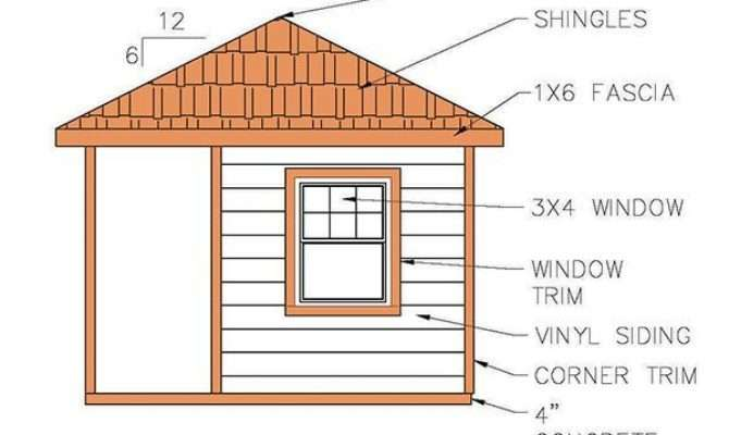 Hip Roof Shed Plans Blueprints Cabana Style