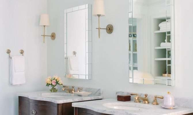 His Her Vanities Transitional Bathroom Natalie Clayman Interior