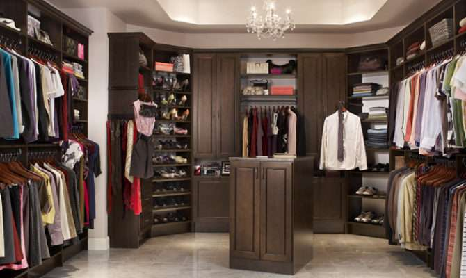 His Her Walk Closet Contemporary