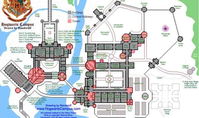 Hogwarts School Floor Plan Castle