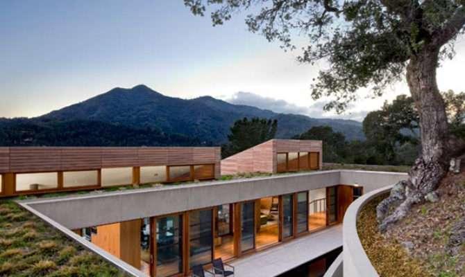 Home Built Into Hillside Kentfield California