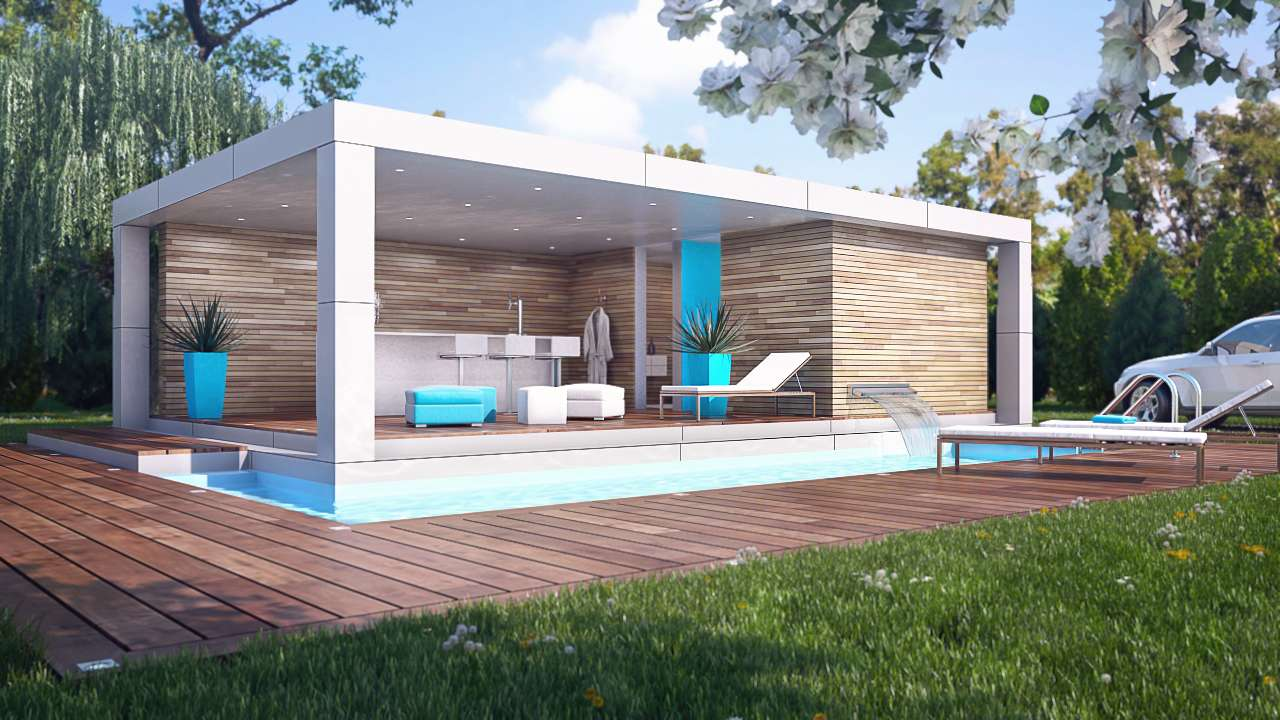 Home Cube Pool House