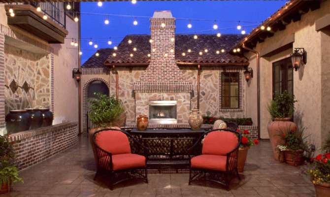 Home Design Inspiration Tuscan Style Courtyards