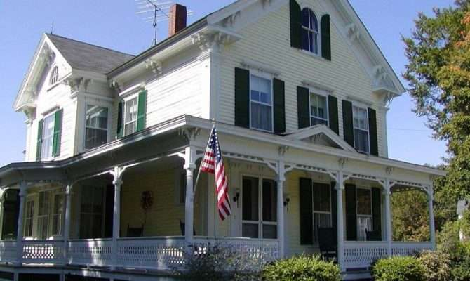 Home Designs American House Two Stories White Victorian Styles