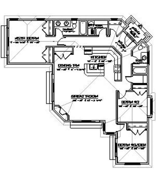 Home Designs Enamoring Open Concept House Plans