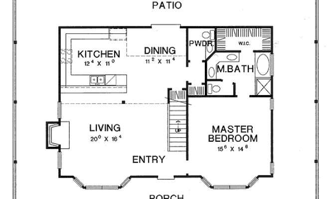 Home Designs Open Floor House Plans Porches