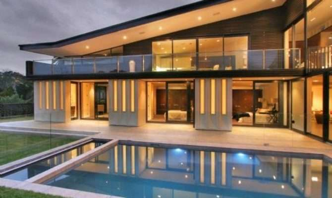 Home Interior Design Modern Glass House Frames Luxurious