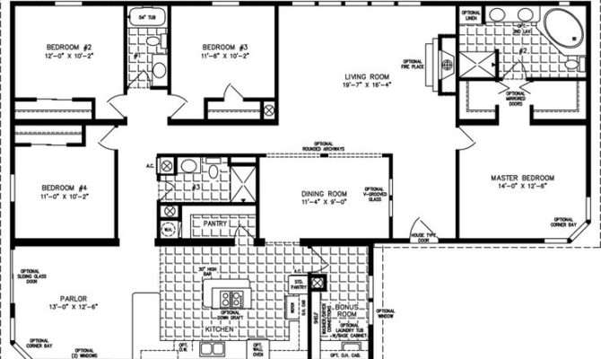 Home Layoutss Manufactured Homes Four Bedroom Mobile