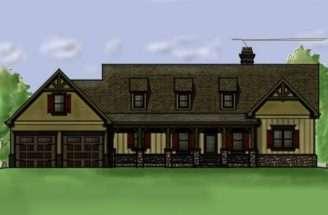 Home Plan Walkout Basement Porches