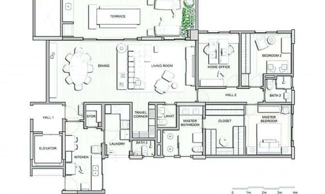 Home Plans Apartments Attached Barn House Inlaw