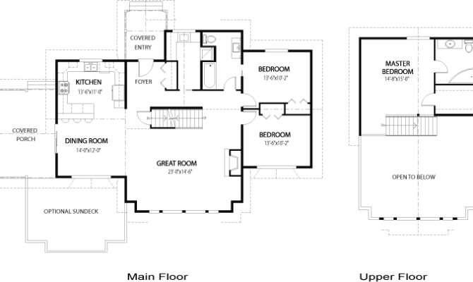 Home Plans Area Main Floor Upper Bedrooms