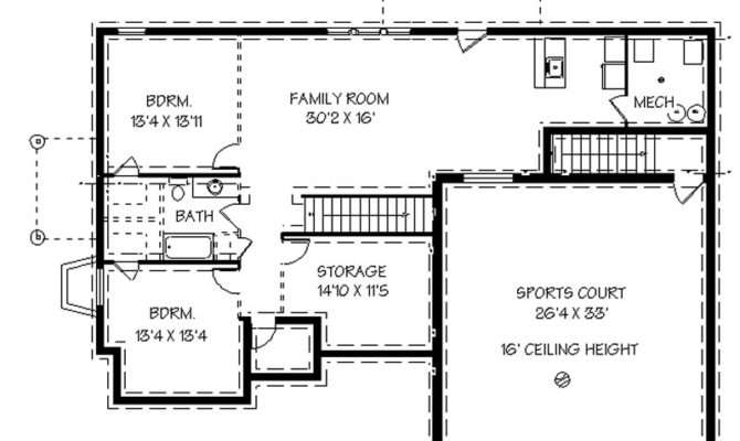Home Plans Basements Smalltowndjs