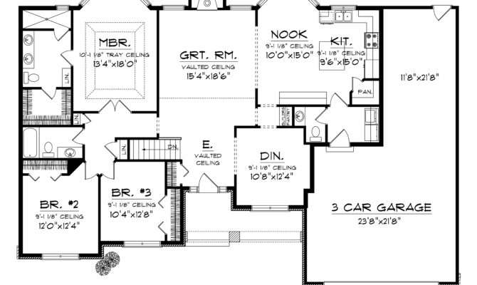 Home Plans Car Garage Homes Floor