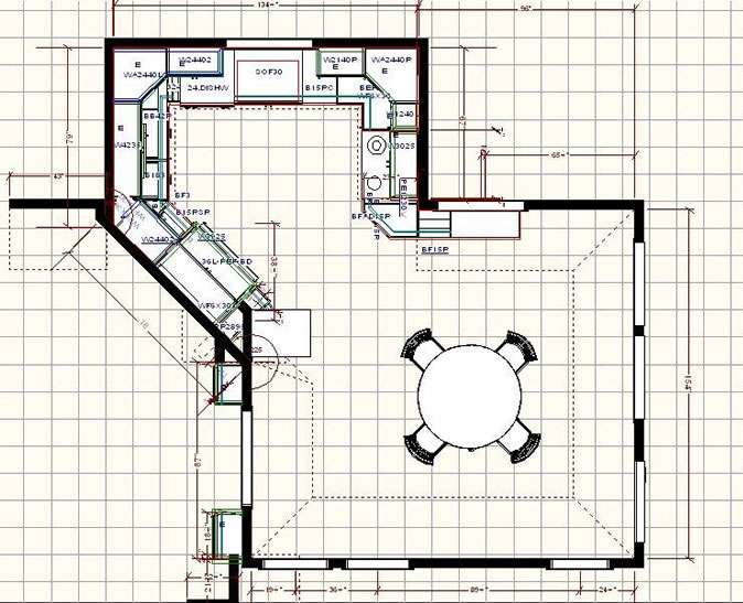 Home Plans Large Kitchen Floor