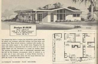 Home Plans Mid Century Modern Floor House