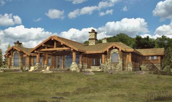 Home Style Western Red Cedar Ranch Plans Custom Log Homes