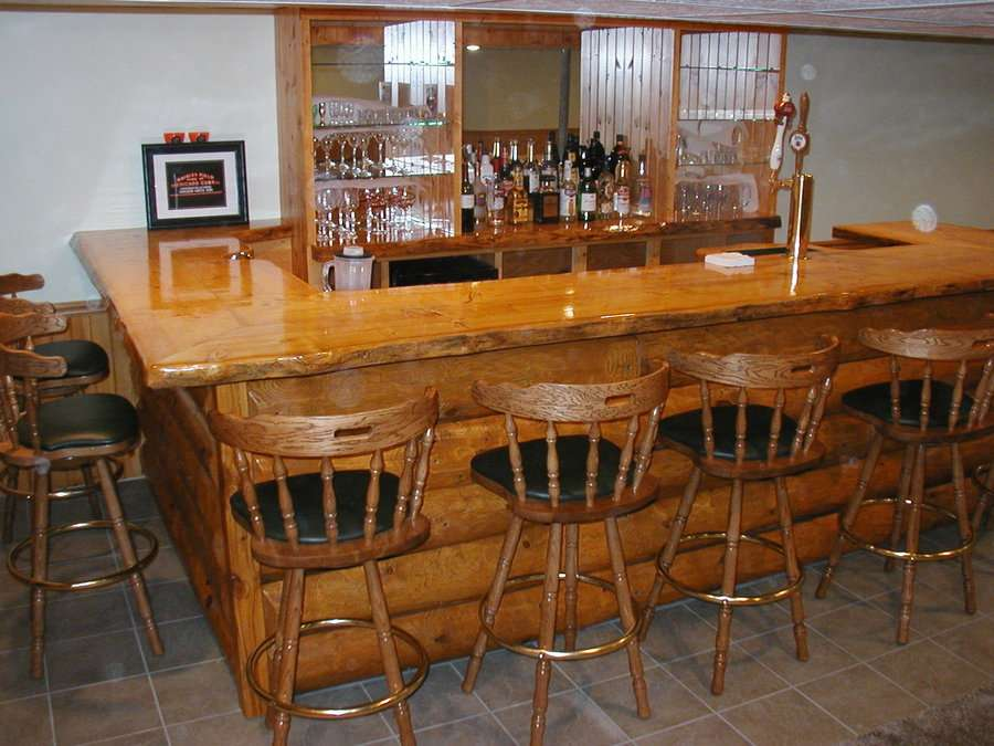 Homemade Rustic Bar Plans Basement Bars Basements
