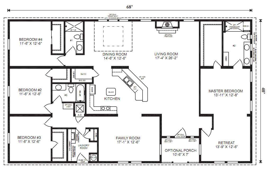 Homes Floor Plans Furniture Manufactured Home Mobile