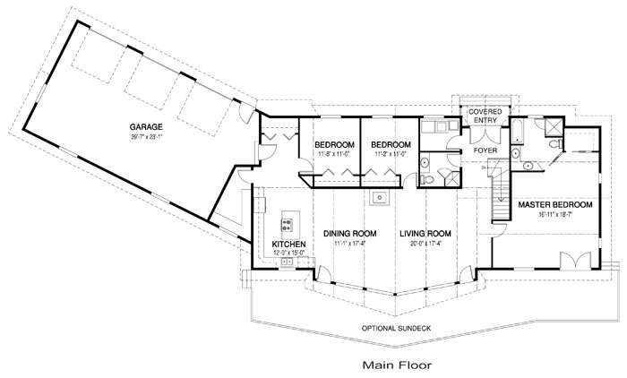 Homes Floor Ranch Style House Plans Home Plan