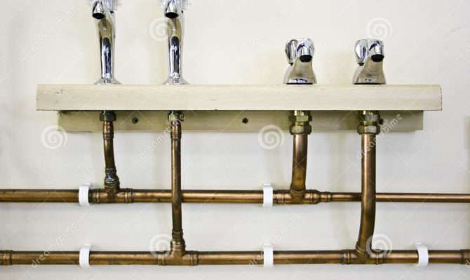 Hot Cold Water Taps Pipes