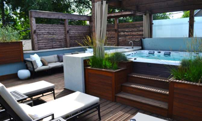 Hot Tub Retreat Contemporary Terrace Chicago