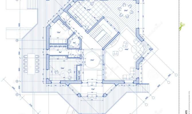 House Architecture Plan Vector Illustration