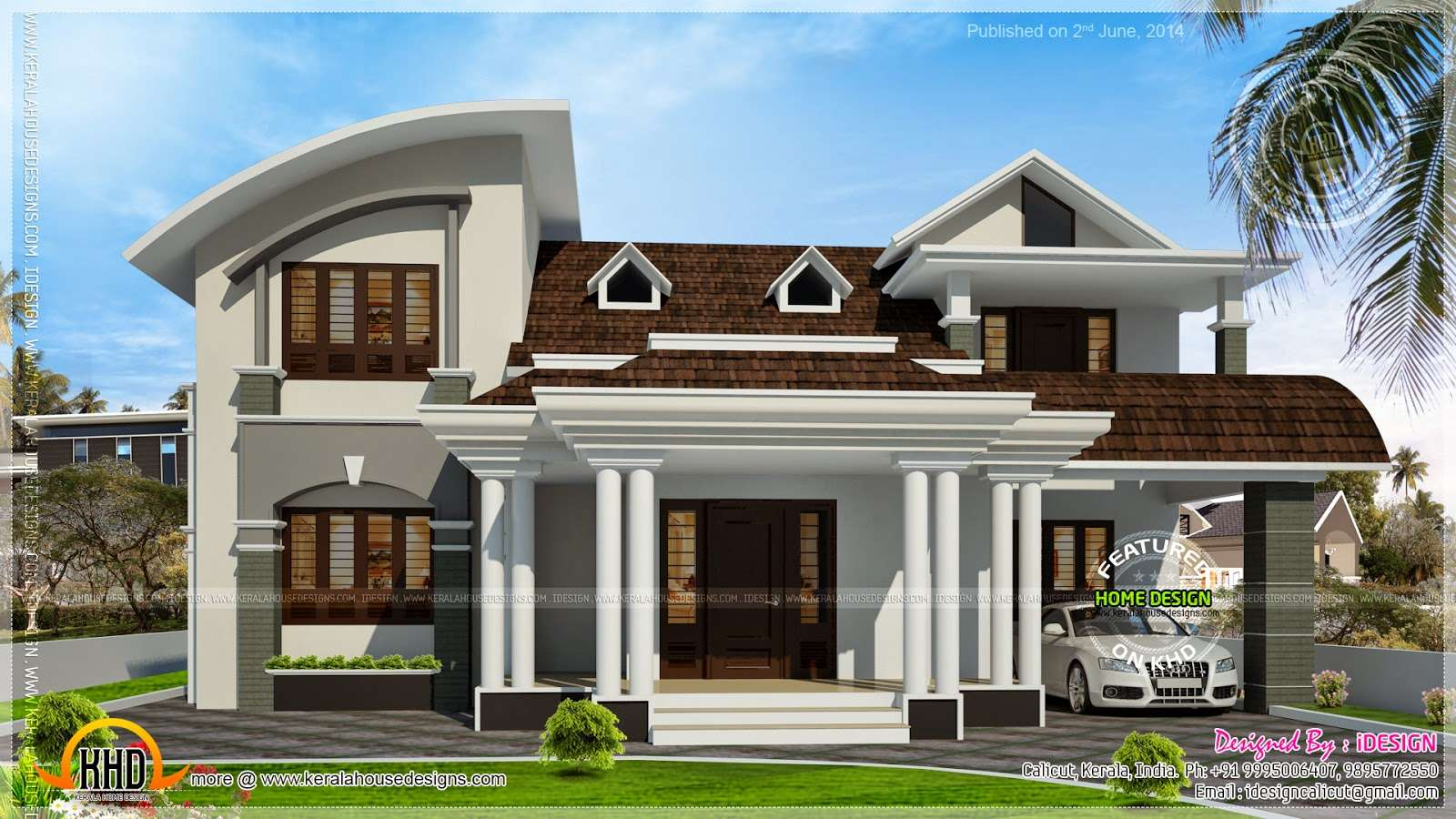 Perfect Kerala Home Design Image best home designers in kerala House Beautiful Dormer Windows Kerala Home Design Floor