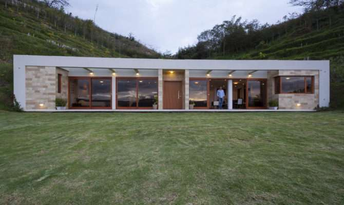 House Built Into Hill