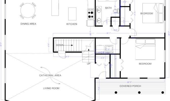 House Design Blueprint Included Smartdraw