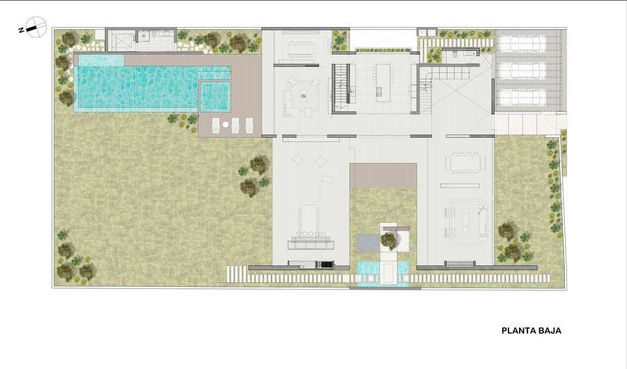 House Design Plans Central Courtyard Home