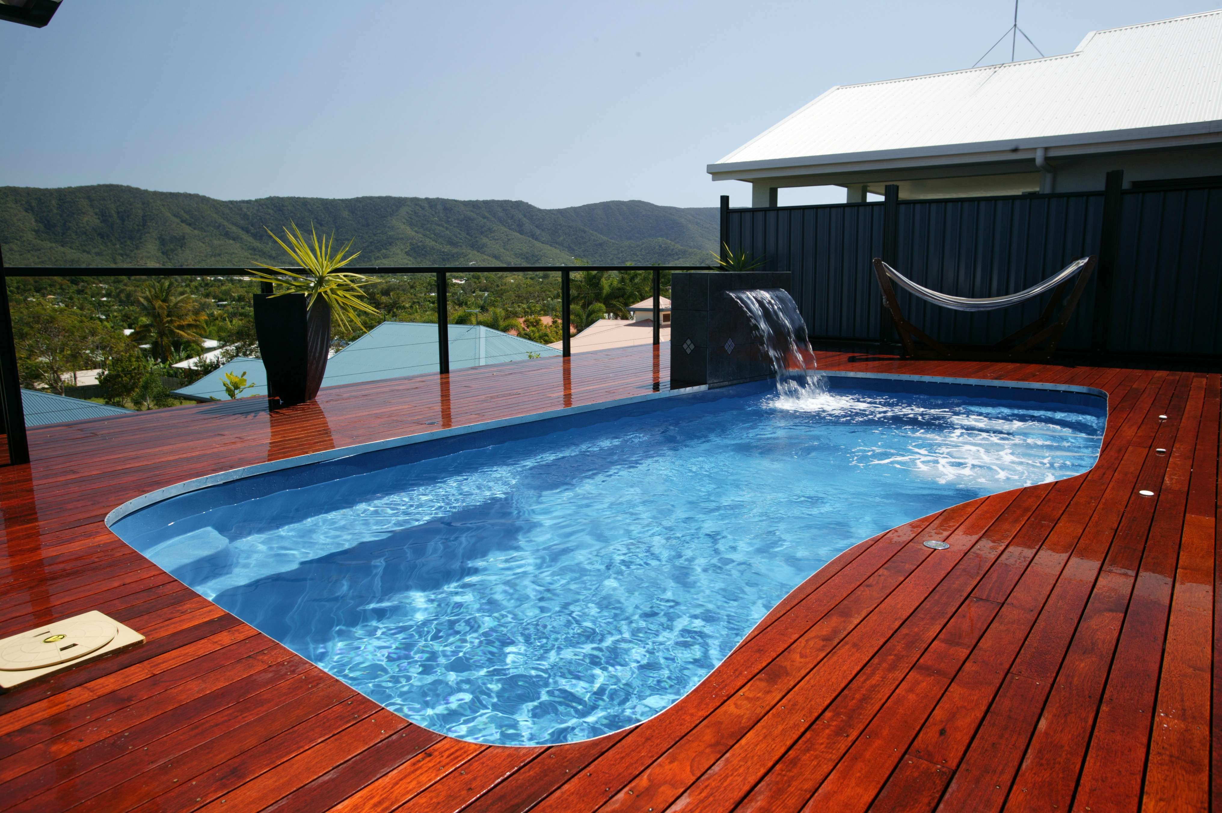 House Exterior Outdoor Small Swimming Pool Plans Home