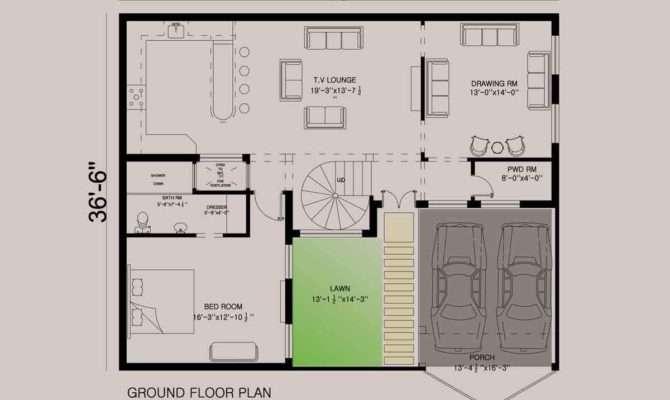 House Floor Plan Design Estate Marla
