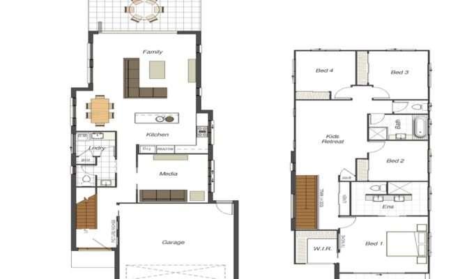 House Floor Plans Addition Narrow Lot Designs