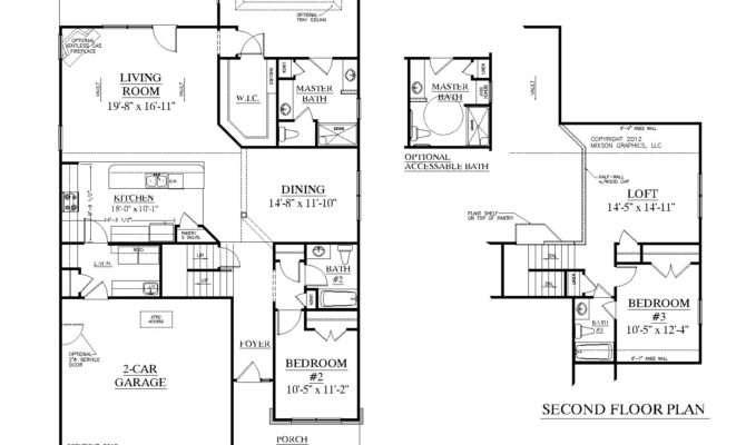 House Floor Plans Bedroom Bath Plan Kingstree