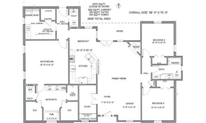 House Floor Plans Bedroom Bath