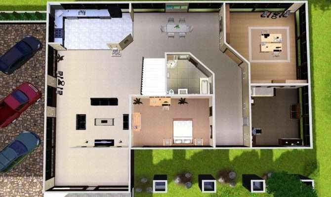 House Floor Plans Mod Sims Modern Estate Blueprints